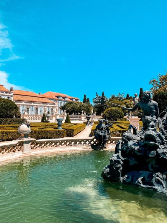 National palace and gardens of Queluz