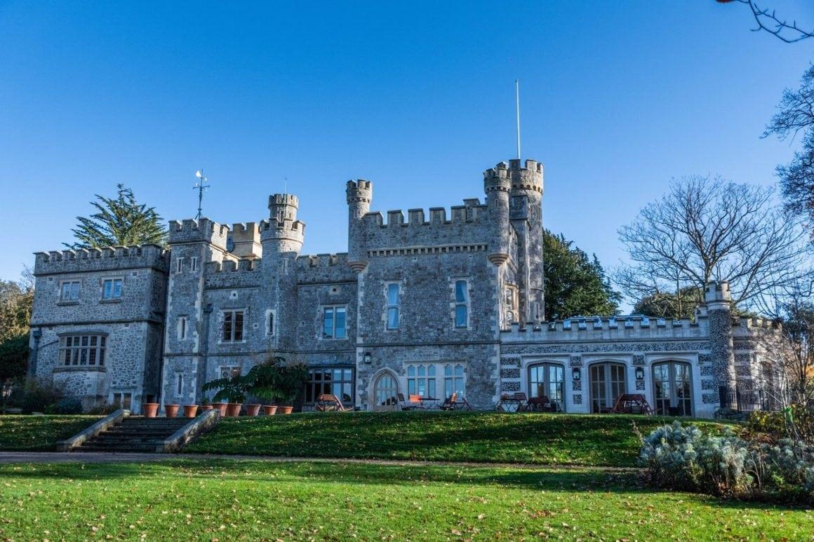 Whitstable castle in summer