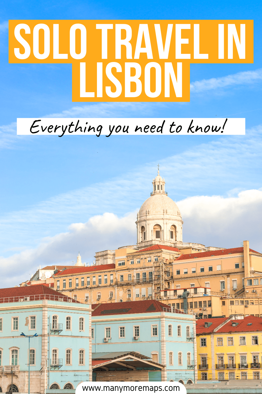 Considering solo travel in Lisbon, Portugal but want to know whether it's safe? I visited as a solo female traveller and have shared everything you need to know to have a fabulous solo trip in Lisbon! I have included the very best things to do in Lisbon alone, where to stay in Lisbon as a solo traveller, and what to expect in terms of safety.