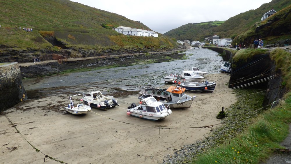 Fishing boats in Cornish harbour